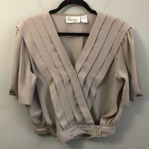 Vintage surplice crossover blouse 80s 90s.